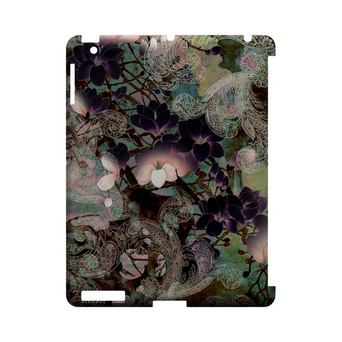 Lacy Flowers - Geeks Designer Line (GDL) Asian Print Series Hard Back Cover for Apple iPad (3rd & 4th Gen.)