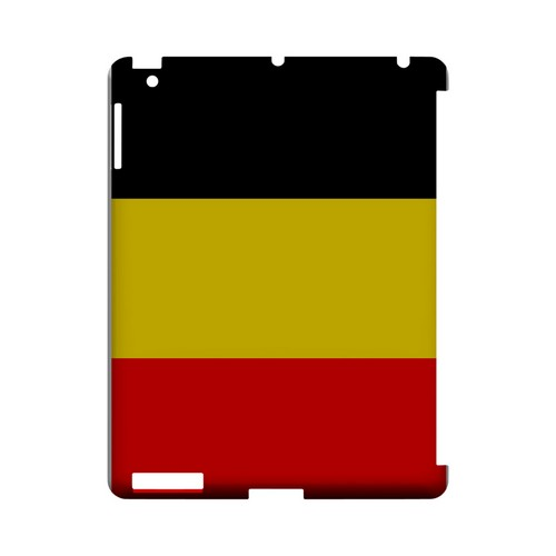 Belgium Geeks Designer Line Flag Series Slim Hard Case for Apple iPad (3rd & 4th Gen.)