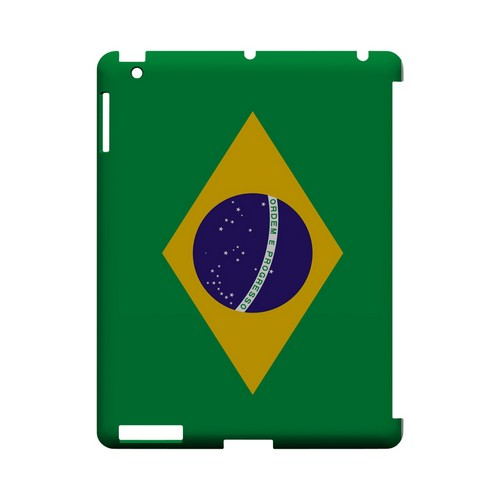 Brazil Geeks Designer Line Flag Series Slim Hard Case for Apple iPad (3rd & 4th Gen.)