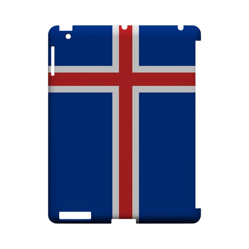 Iceland Geeks Designer Line Flag Series Slim Hard Case for Apple iPad (3rd & 4th Gen.)