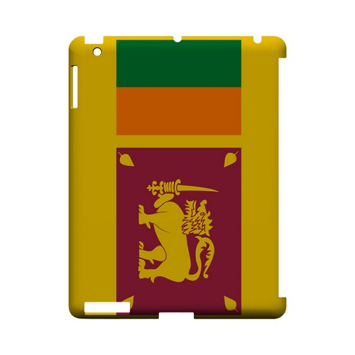 Sri Lanka Geeks Designer Line Flag Series Slim Hard Case for Apple iPad (3rd & 4th Gen.)