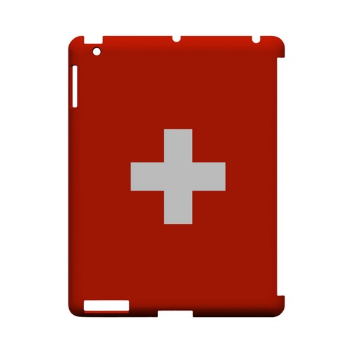 Switzerland Geeks Designer Line Flag Series Slim Hard Case for Apple iPad (3rd & 4th Gen.)