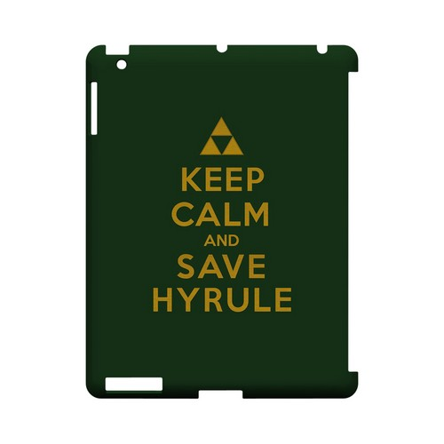 Green Save Hyrule Geeks Designer Line Keep Calm Series Slim Hard Case for Apple iPad (3rd & 4th Gen.)