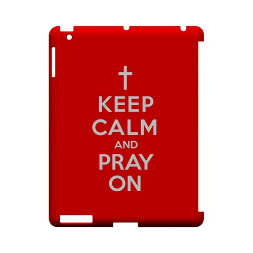 Red Pray On Geeks Designer Line Keep Calm Series Slim Hard Case for Apple iPad (3rd & 4th Gen.)