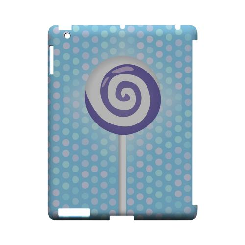 Purple Lollipop Geeks Designer Line Candy Series Slim Hard Back Cover for Apple iPad (3rd & 4th Gen.)