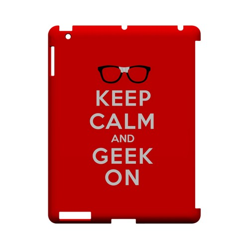 Red Geek On Geeks Designer Line Keep Calm Series Slim Hard Case for Apple iPad (3rd & 4th Gen.)