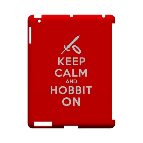 Red Hobbit On Geeks Designer Line Keep Calm Series Slim Hard Case for Apple iPad (3rd & 4th Gen.)