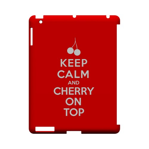 Red Cherry On Top Geeks Designer Line Keep Calm Series Slim Hard Case for Apple iPad (3rd & 4th Gen.)