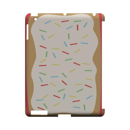 Toaster Pastry w/Sprinkles Geeks Designer Line Candy Series Slim Hard Back Cover for Apple iPad (3rd & 4th Gen.)