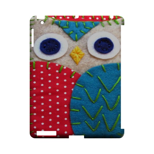 White/ Blue Owl Geek Nation Program Exclusive Jodie Rackley Series Hard Case for Apple iPad (3rd & 4th Gen.)