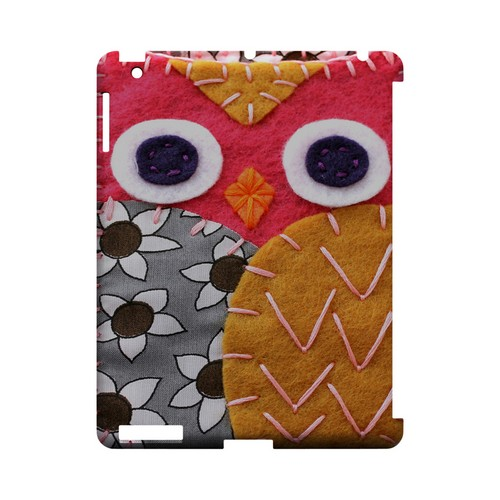 Hot Pink/ Dark Blue Owl Geek Nation Program Exclusive Jodie Rackley Series Hard Case for Apple iPad (3rd & 4th Gen.)