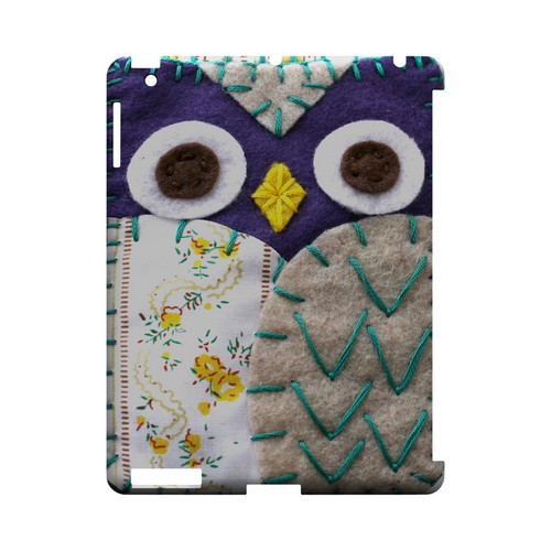 Blue/ Gray Owl Geek Nation Program Exclusive Jodie Rackley Series Hard Case for Apple iPad (3rd & 4th Gen.)