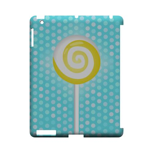 Yellow Lollipop Geeks Designer Line Candy Series Slim Hard Back Cover for Apple iPad (3rd & 4th Gen.)