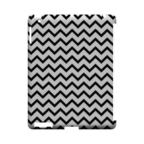 Black on White Geeks Designer Line Zig Zag Series Slim Hard Case for Apple iPad (3rd & 4th Gen.)