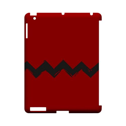 Red Good Grief! Geeks Designer Line Zig Zag Series Slim Hard Case for Apple iPad (3rd & 4th Gen.)