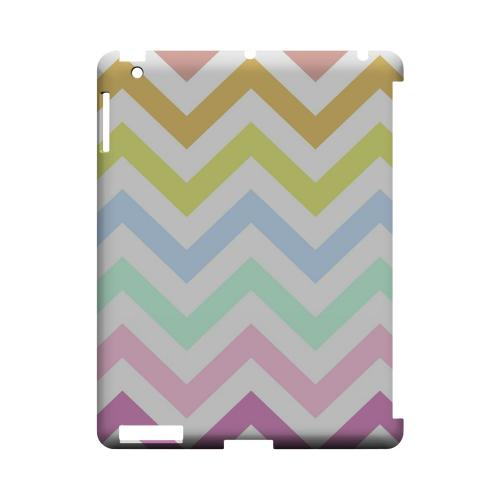 Pastel on White Geeks Designer Line Zig Zag Series Slim Hard Case for Apple iPad (3rd & 4th Gen.)