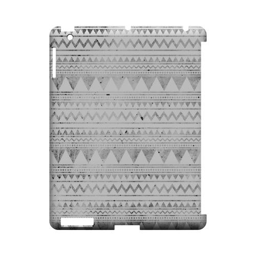 Grungy Triangles Geeks Designer Line Zig Zag Series Slim Hard Case for Apple iPad (3rd & 4th Gen.)
