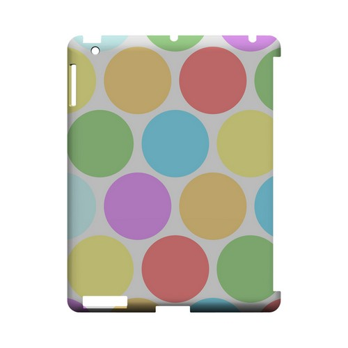 Big & Rainbow on White Geeks Designer Line Polka Dot Series Slim Hard Case for Apple iPad (3rd & 4th Gen.)
