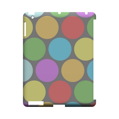 Big & Rainbow on Gray Geeks Designer Line Polka Dot Series Slim Hard Case for Apple iPad (3rd & 4th Gen.)