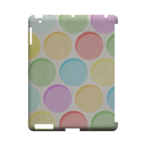 Grungy & Rainbow Geeks Designer Line Polka Dot Series Slim Hard Case for Apple iPad (3rd & 4th Gen.)