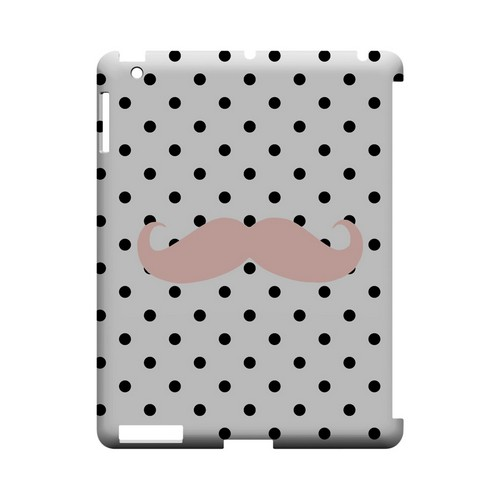 Pink Stache Geeks Designer Line Polka Dot Series Slim Hard Case for Apple iPad (3rd & 4th Gen.)