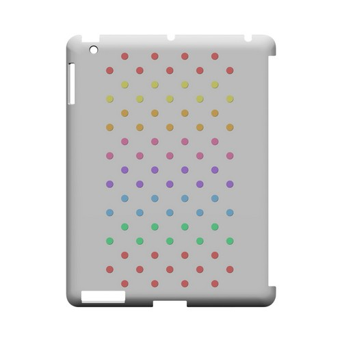 Rainbow Dots on White Geeks Designer Line Polka Dot Series Slim Hard Case for Apple iPad (3rd & 4th Gen.)