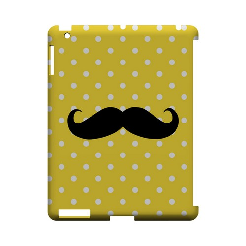 Stache on Yellow Geeks Designer Line Polka Dot Series Slim Hard Case for Apple iPad (3rd & 4th Gen.)