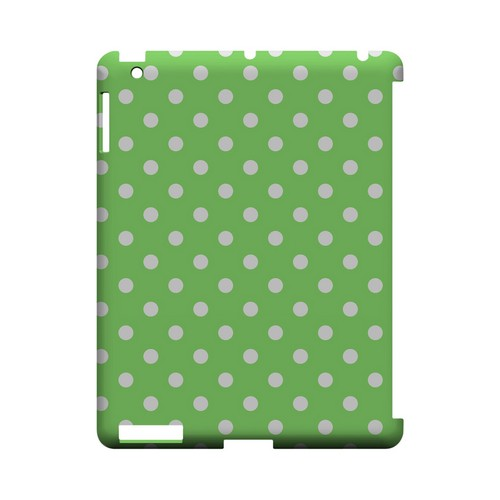 White Dots on Green Geeks Designer Line Polka Dot Series Slim Hard Case for Apple iPad (3rd & 4th Gen.)
