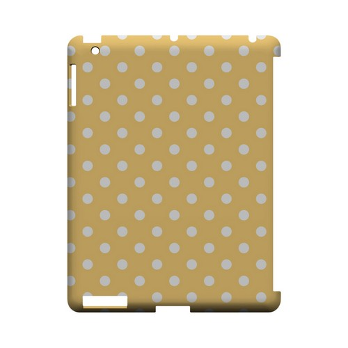 White Dots on Orange Geeks Designer Line Polka Dot Series Slim Hard Case for Apple iPad (3rd & 4th Gen.)