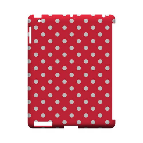 White Dots on Red Geeks Designer Line Polka Dot Series Slim Hard Case for Apple iPad (3rd & 4th Gen.)