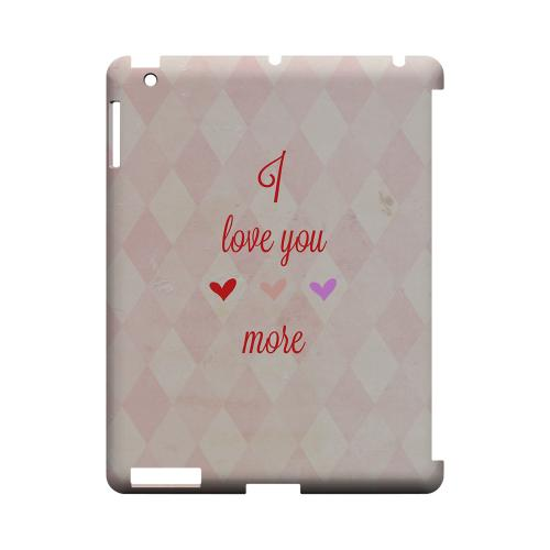 I Love You More Geeks Designer Line Heart Series Slim Hard Case for Apple iPad (3rd & 4th Gen.)