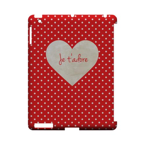 Je t'adore Geeks Designer Line Heart Series Slim Hard Case for Apple iPad (3rd & 4th Gen.)