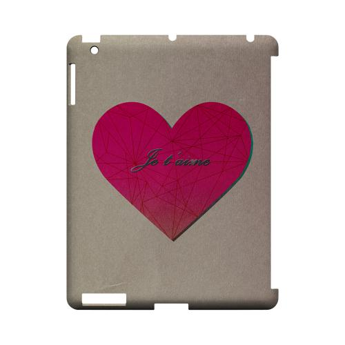Je t'aime Geeks Designer Line Heart Series Slim Hard Case for Apple iPad (3rd & 4th Gen.)