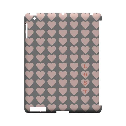 Lost in Love Geeks Designer Line Heart Series Slim Hard Case for Apple iPad (3rd & 4th Gen.)