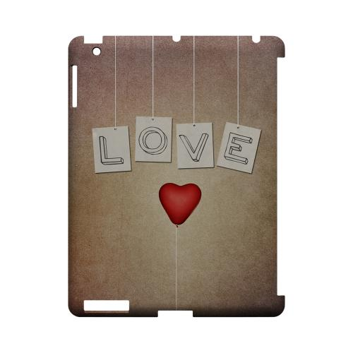 Love & Heart Balloon Geeks Designer Line Heart Series Slim Hard Case for Apple iPad (3rd & 4th Gen.)
