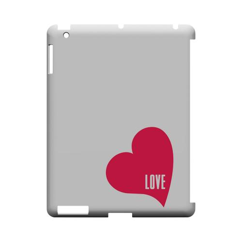 Love Heart Geeks Designer Line Heart Series Slim Hard Case for Apple iPad (3rd & 4th Gen.)