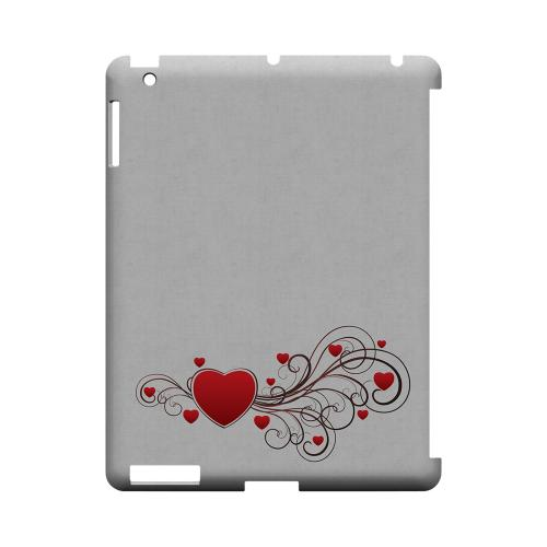 Love Bloom Geeks Designer Line Heart Series Slim Hard Case for Apple iPad (3rd & 4th Gen.)