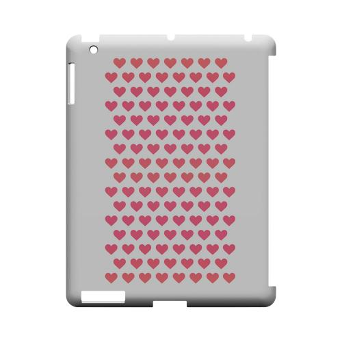 Miniature Hearts Geeks Designer Line Heart Series Slim Hard Case for Apple iPad (3rd & 4th Gen.)