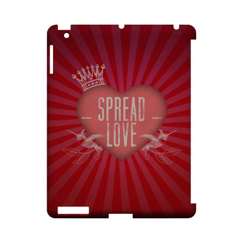 Spread Love Geeks Designer Line Heart Series Slim Hard Case for Apple iPad (3rd & 4th Gen.)