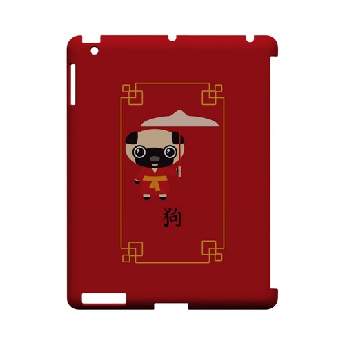 Chibi Dog Geeks Designer Line Chinese Horoscope Series Slim Hard Case for Apple iPad (3rd & 4th Gen.)