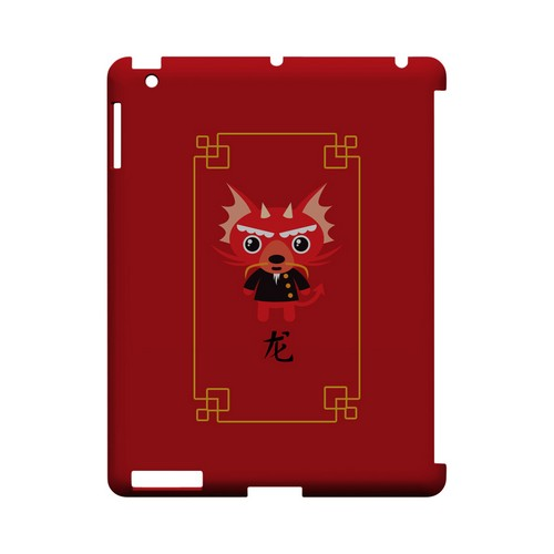 Chibi Dragon Geeks Designer Line Chinese Horoscope Series Slim Hard Case for Apple iPad (3rd & 4th Gen.)