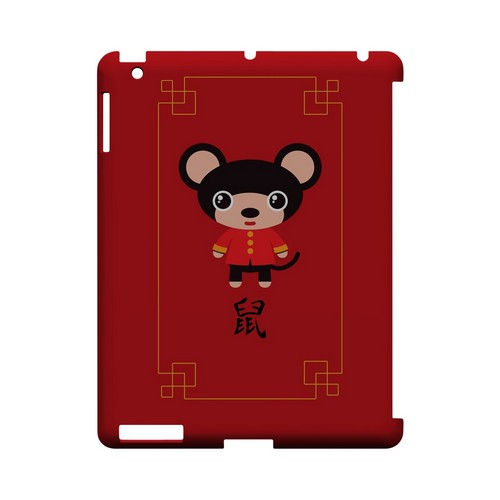 Chibi Rat Geeks Designer Line Chinese Horoscope Series Slim Hard Case for Apple iPad (3rd & 4th Gen.)