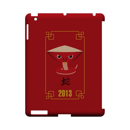 Chibi Snake Geeks Designer Line Chinese Horoscope Series Slim Hard Case for Apple iPad (3rd & 4th Gen.)