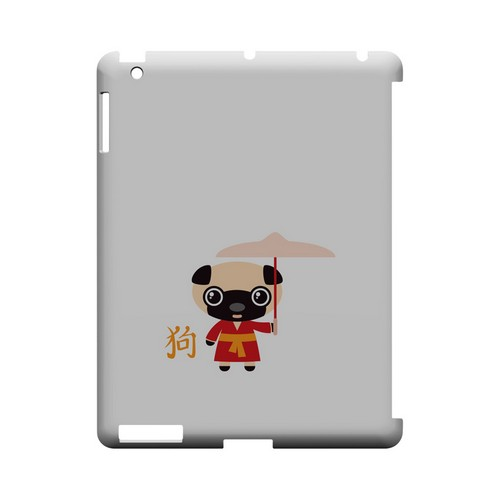 Dog on White Geeks Designer Line Chinese Horoscope Series Slim Hard Case for Apple iPad (3rd & 4th Gen.)