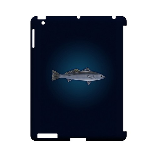 White Sea Bass - Geeks Designer Line (GDL) Fish Series Hard Back Cover for Apple iPad (3rd & 4th Gen.)