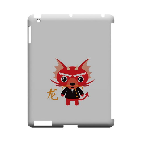 Dragon on White Geeks Designer Line Chinese Horoscope Series Slim Hard Case for Apple iPad (3rd & 4th Gen.)