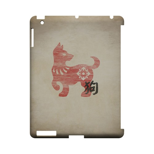 Grunge Dog Geeks Designer Line Chinese Horoscope Series Slim Hard Case for Apple iPad (3rd & 4th Gen.)