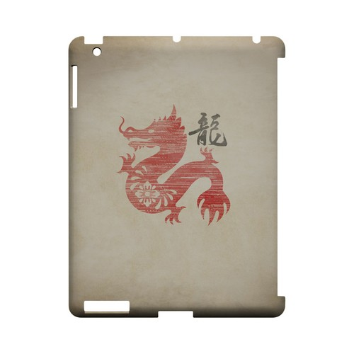 Grunge Dragon Geeks Designer Line Chinese Horoscope Series Slim Hard Case for Apple iPad (3rd & 4th Gen.)