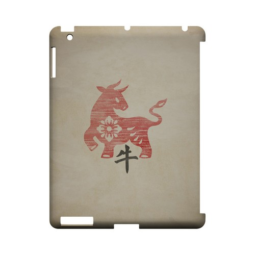 Grunge Ox Geeks Designer Line Chinese Horoscope Series Slim Hard Case for Apple iPad (3rd & 4th Gen.)