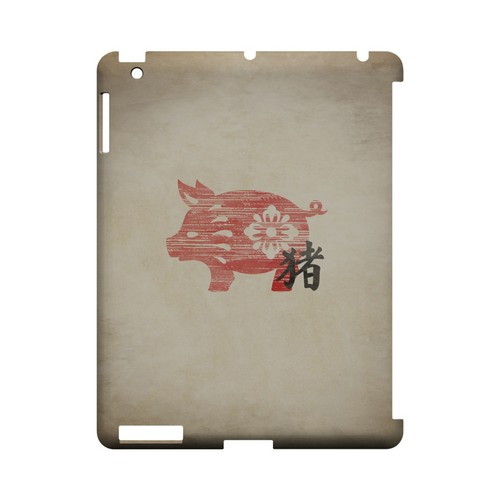Grunge Pig Geeks Designer Line Chinese Horoscope Series Slim Hard Case for Apple iPad (3rd & 4th Gen.)
